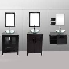 """Bathroom Vanity Height - If you were wondering which is the standard height of a regular bathroom vanity cabinet, that would be 32"""", although the range can be anywhere from 30"""" to 36"""" or so. Nowadays, the modern units are taller, and they are named comfort height vanities."""