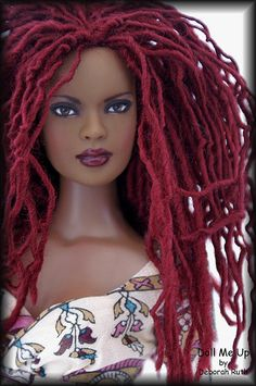 Spicy redhead fashion barbie. . .I wish I had a Barbie like this growing up.