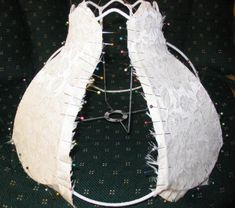 I have over the last few months had emails asking about all the instructions for the lampshade .apparently, not all the instructions come. Cover Lampshade, Make A Lampshade, Fabric Lampshade, Lampshade Kits, Lamp Cover, Victorian Lamps, Victorian Furniture, Diy Abat Jour, Home Crafts