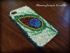 Bling Phone Case  Beautiful Peacock Feather by Mommyliciouscrafts, $35.00