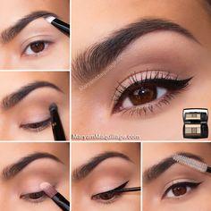 Natural make up for brown eyes!