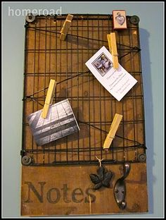 Love the look and feel of this Notes Board! Great way to display items in booth
