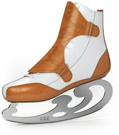 Beautiful Lekalus ice skates with a French curve blade. and i don't even care about ice skating.