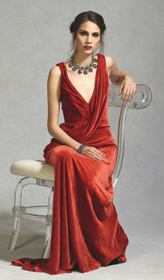 I couldn't decide where to pin this, our really even why, but oh how I LOVE this dress!    Carmen Marc, silk velvet