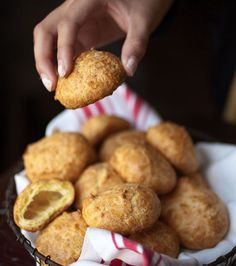 Looking for a tasty starter for your holiday party? Try these Gougères (Cheese Puffs). You can stuff them with herbed goat cheese.