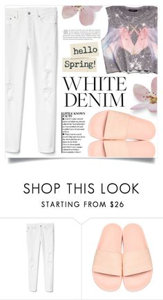 """""""Bright White: Summer Denim"""" by dolly-valkyrie ❤ liked on Polyvore featuring Gap, adidas Originals, Forever 21 and whitejeans"""