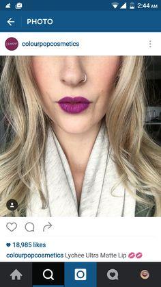 #colourpop #lip #swatch #purple