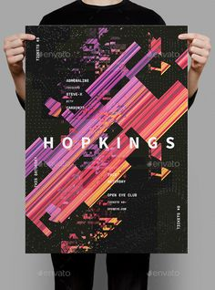 Hopkings Flyer / Poster Template PSD