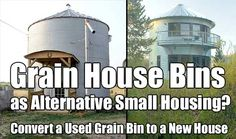 Grain House Bins as Alternative Small Housing. From a distance they look like regular old grain bins and because of that if SHTF people may just move on by.