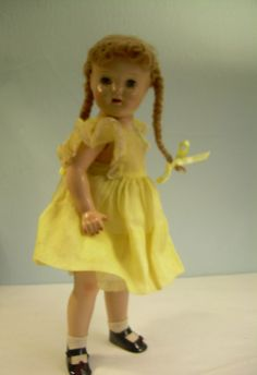 Great DOLL organdy dress antique vintage composition SHIRLEY TEMPLE Ana McGuffey