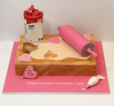 Cookie making Kitchen Tea/Bridal Shower cake by Creative Cakes by Julie, via Flickr