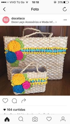 Bag of - 2019 Handmade Handbags, Handmade Bags, Beach Stores, Straw Handbags, Straw Bag, Wicker, Crochet Patterns, Diy Crafts, Tote Bag