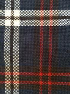 Weaving plaid on a rigid heddle loom.