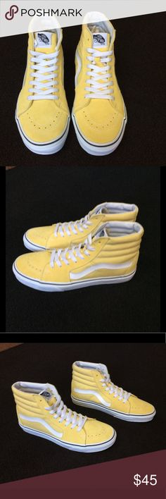 7c86265071 Brand New Vans Tops Brand new dusky citron Vans Hi Tops. Size Men's or Size  10 for Women.
