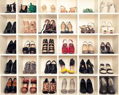 would love to individually display my heel/shoe collection like this. thankfully i don't think i have more than 30 pairs.