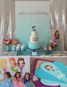 Little Mermaid Birthday Party Printables Aqua por StyleMeShabbyChic,