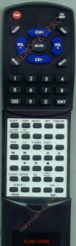 SONY Replacement Remote Control for 147851812, 147851813, 147851821, A1060760A by Redi-Remote. $24.58. This is a custom built replacement remote made by Redi Remote for the SONY remote control number 147851821. *This is NOT an original  remote control. It is a custom replacement remote made by Redi-Remote*  This remote control is specifically designed to be compatible with the following models of SONY units:   147851812, 147851813, 147851821, A1060760A, CMTBX5BT...