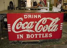 Roadrelics buy and sale original vintage signs, Antique signs, Old signs, Advertising signs and more in the USA. We sell only original signs. Vintage Coca Cola, Coca Cola Decor, Coke Machine, Always Coca Cola, World Of Coca Cola, Antique Signs, Old Signs, Dr Pepper