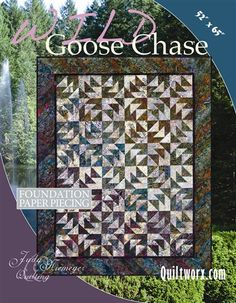 Wild Goose Chase...paper-pieced. Pattern includes papers.