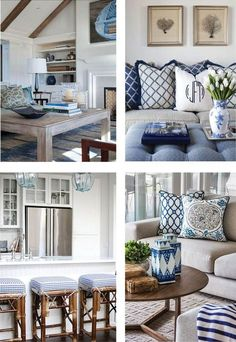 Excellent Set sail and take your colour cue from ocean inspired living. Ultra polished, navy is th… The post Set sail and take your colour cue from ocean inspired living. Coastal Living Rooms, Home And Living, Living Room Decor, Hamptons Style Decor, The Hamptons, Style At Home, Coastal Decor, Coastal Style, Coastal Cottage