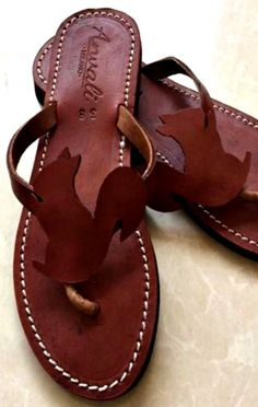 39e6fa052f8 Squirrel lovers flip flops sandals handmade leather summer gift