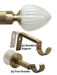 Italia Pinto Antique Brass Eyelet Curtain Pole From (Including VAT at Bracket, Brass, Curtain Poles, Door Handles, Curtains