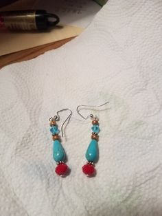 Earrings from Tania's beadsoup Soup, Beads, Earrings, Party, Blog, O Beads, Beading, Stud Earrings, Ear Rings