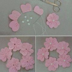 cute felt flowers - My World Craft