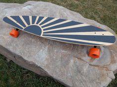 Longboard with custom Grip Tape by SpeedSticks on Etsy