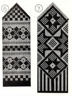 Fair Isle by sharron Knitting Machine Patterns, Knitting Charts, Knitting Stitches, Knitting Socks, Knitted Mittens Pattern, Crochet Mittens, Fair Isle Chart, Fair Isle Pattern, Fair Isle Knitting