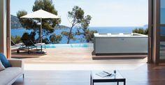 whirlpool Design Line Line Design, Wellness Spa, Belle Photo, Decoration, Villa, Outdoor, Luxury, Interior, Massage