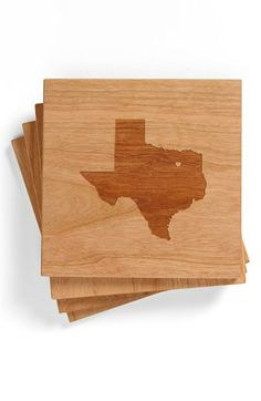 Richwood Creations 'State Silhouette' Coasters (Set of 4) | Nordstrom