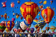 International Balloon Fiesta    Photograph by Bill Heinsohn, Getty Images    Albuquerque, New Mexico    All eyes will be on the skies over New Mexico's largest city October 6-14