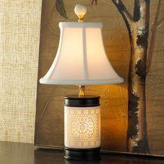 Cream Bone China Mini Table Lamp
