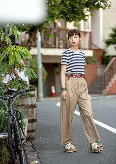 FUDGE.JP – MUJI Special Snap NO.13 Bottoms : OPENING CEREMONY Shoes : Jeffrey Campbell