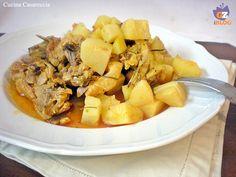 Pollo con patate in pentola a pressione