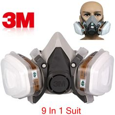 Masks Gas Mask Dual Anti-dust Spray Paint Industrial Chemical Gas Respirator Mask Glasses Set Black 2019 Fashion Trendcy