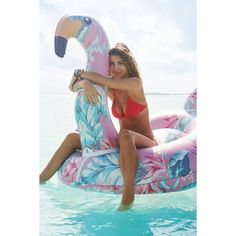Floral Flamingo Pool Float (€50) ❤ liked on Polyvore featuring home, home decor, urban outfitters, flamingo home decor and floral home decor