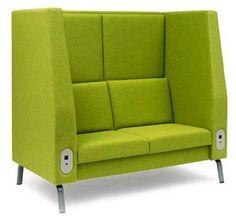 Bretford EDUMH450P-G2   |  Motiv High-back Sofa W/ Grade 2 Upholstery ( With Power )  Stock #: 22997  |  $3,325.95