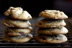 crispy chewy chocolate chip cookies:  while the definition of the perfect cookie recipe is very personal, Luke and I have decided that this recipe is pretty close to perfection for us.  And it requires neither waiting for butter to soften nor waiting for the dough to chill before baking.