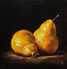 SOLD. Yellow Pears   Nina R. Aide Fine Art Studio Still life#original oil painting