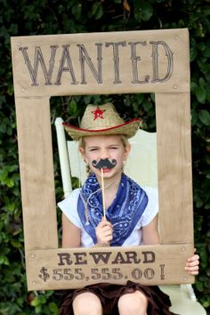 Cowboy Cookout birthday party photo booth