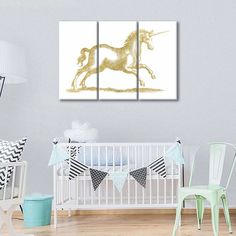 Golden Unicorn Fantasy Multi Panel Canvas Wall Art by ElephantStock is printed using High-Quality materials for an elegant finish. We are the specialists in Modern Décor canvas prints and we offer 30 day Money Back Guarantee Print Artist, Artist Canvas, Artist Painting, Artist Art, Alternative Artists, Unicorn Fantasy, Canvas Wall Art, Canvas Prints, Create Canvas