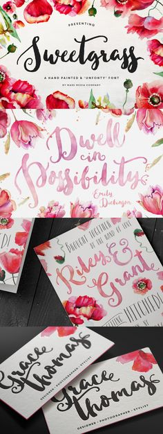 Wow! Can't get enough of this Brush Lettering / Brushed Calligraphy Font. Swoon.