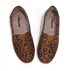 Canvas Slip On Flat (Leopard)