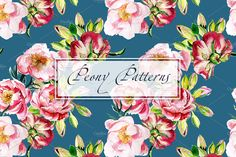 Watercolor Peony patterns by lilisavelieva on Watercolor Peony, Watercolor Pattern, Christmas Drinks, Peonies, Patterns, Creative, Flowers, Projects, Block Prints