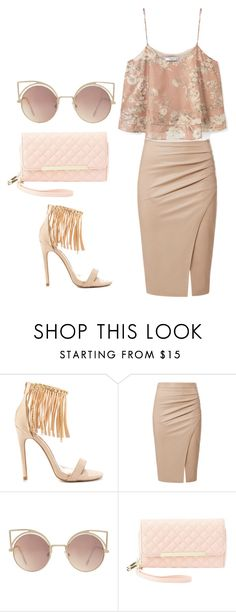 """""""Untitled #1204"""" by srlangley ❤ liked on Polyvore featuring Qupid, MANGO and Charlotte Russe"""