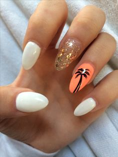 Vacation Toe Nail Art - Vacation - Summer Holiday Nails Crabs Sand Glitter Stripes Starfish Beach C Blue Gold. Holiday Nail Designs, Cute Nail Designs, Acrylic Nail Designs, Art Designs, Design Ideas, Orange Nail Designs, Simple Designs, Design Design, Coral Pink Nails