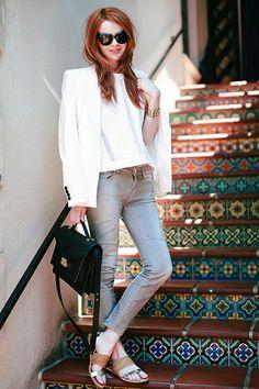 jane aldridge wearing the rider bag and dree sandals
