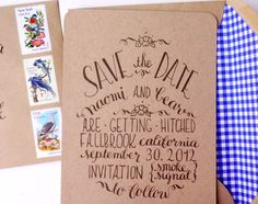 Oh So Beautiful Paper: Naomi's Kraft Paper and Calligraphy Save the Dates
